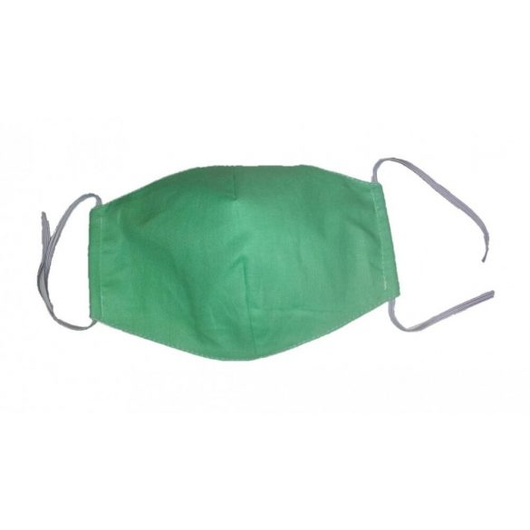 Felnőtt szájmaszk / arcmaszk zöld színben