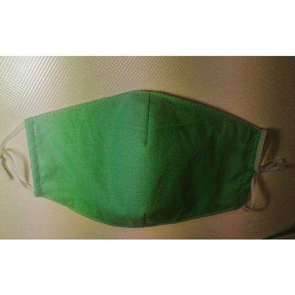 Gyermek szájmaszk / arcmaszk zöld színben